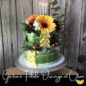 Fleuriste-Foliole-Gateau-de-fleurs-Orange-et-citron-2-etages