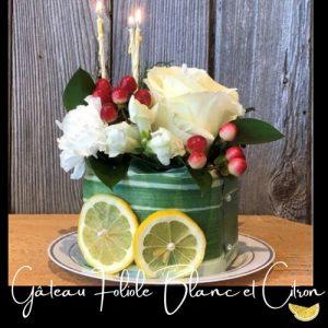 Fleuriste-Foliole-Gateau-de-fleurs-blanc-et-citron-15-cm