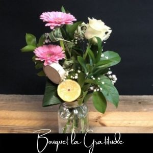 Fleuriste foliole bouquet de fleurs la gratitude