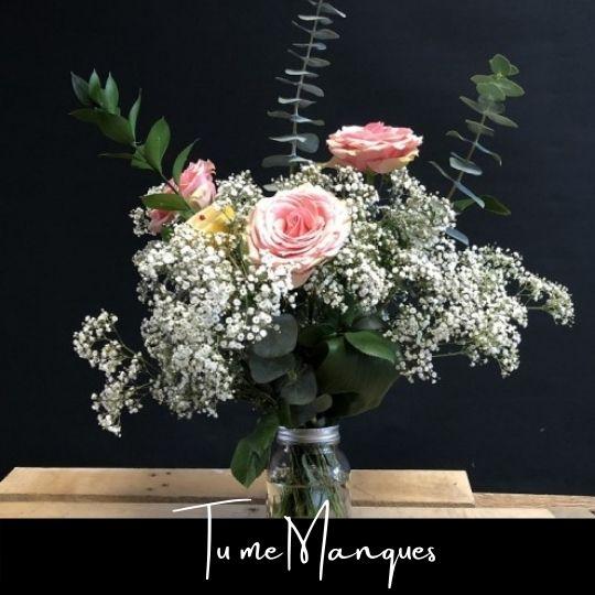 Fleuriste foliole bouquet fleurs tu me manques