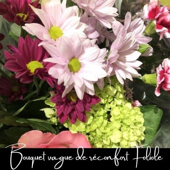Fleuriste foliole bouquet fleurs vague de réconfort (3)