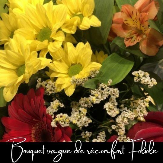 Fleuriste foliole bouquet fleurs vague de réconfort