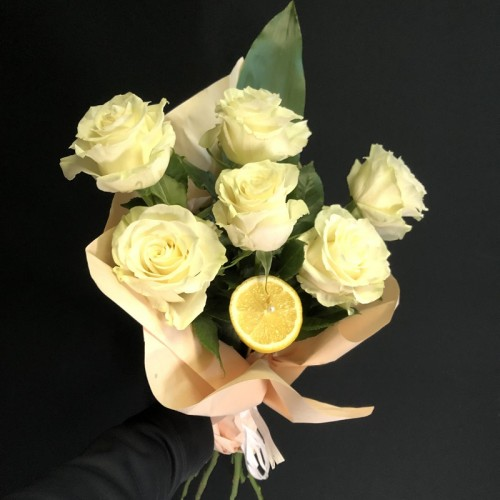 Promo reconfort 6 Roses jaune