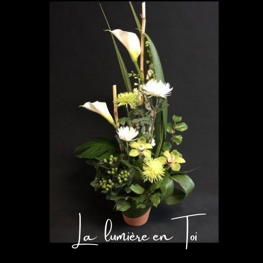 Corbeille Funeraire Fleuriste foliole bouquet fleurs funeraire corbeille la lumiere en toi