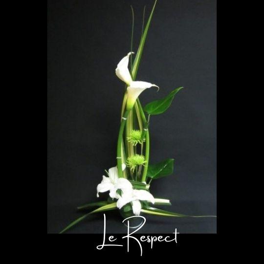 Corbeille funeraire Fleuriste foliole bouquet fleurs funeraire corbeille le respect