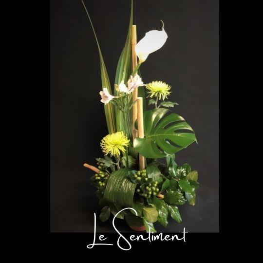 Corbeille Funeraire Fleuriste foliole bouquet fleurs funeraire corbeille le sentiment