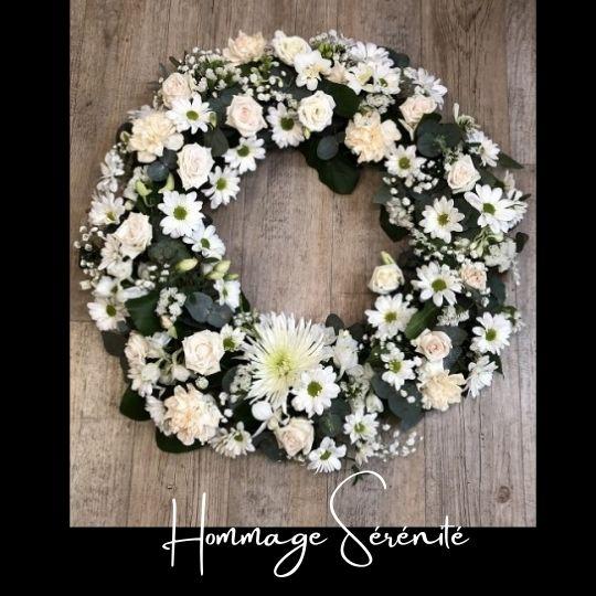 Couronne Funeraire Fleuriste foliole bouquet fleurs funeraire couronne hommage serenite