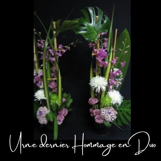 Fleuriste foliole bouquet fleurs funeraire urne un dernier hommage