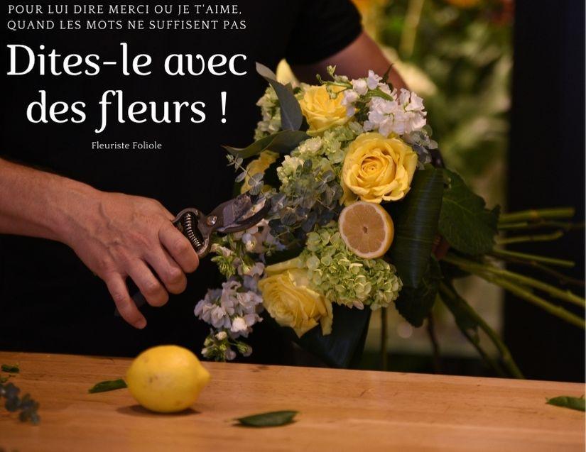 Fleuriste Foliole dites-le avec nos fleursFleuriste Foliole dites-le avec nos fleurs
