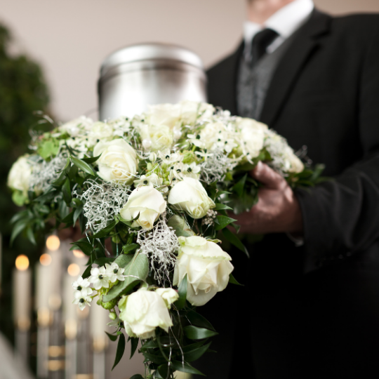 Funéraire urne fleuriste foliole