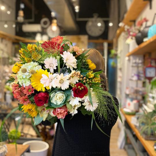 Bouquet de fleurs fleuriste foliole