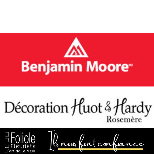 Benjamin Moore ils nous font confiance fleuristefoliole.com