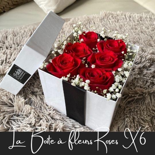 La Boite a fleurs Roses X9 fleuristefoliole.com