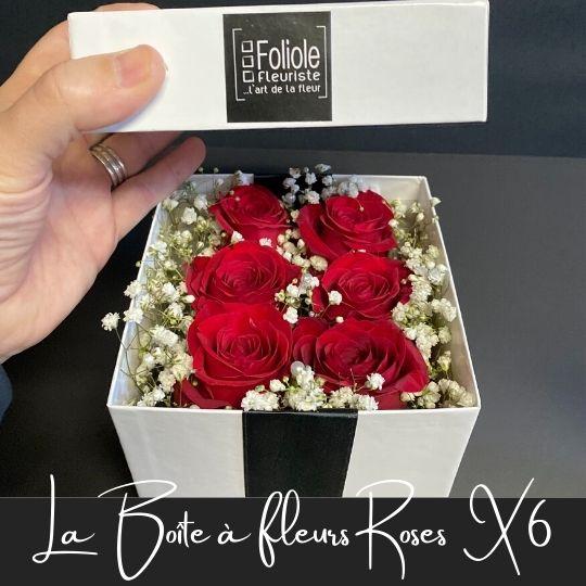 la boite 6 roses fleuristefoliole.com