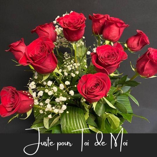 roses Juste pour toi de moi fleuristefoliole.com