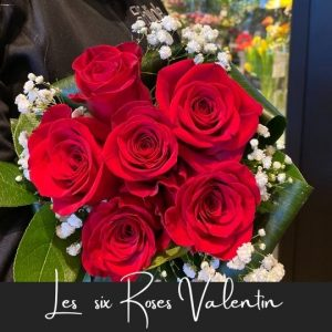Les six roses valentin fleuristefoliole.com