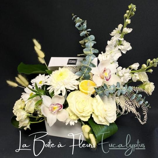la boite a fleurs l'eucalyptus fleuristefoliole.com