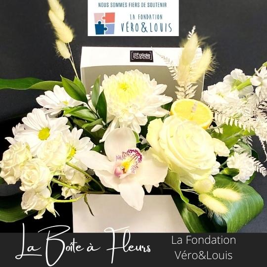 la boite a fleurs fondation Vero et louis fleuristefoliole.com