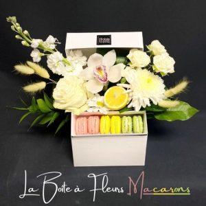 la boite a fleurs macarons fleuristefoliole.com